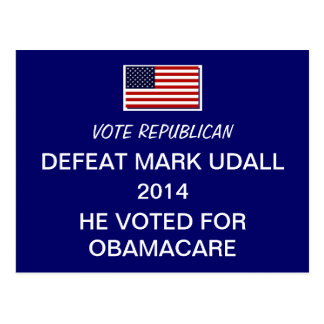 Defeat Mark Udall 2014 Postcards