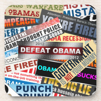 Defeat Obama 2012 Beverage Coasters