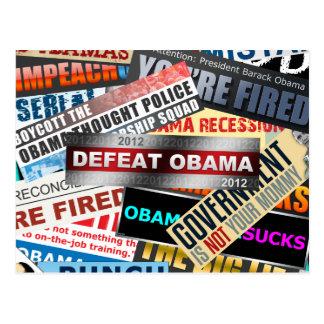 Defeat Obama 2012 Post Card