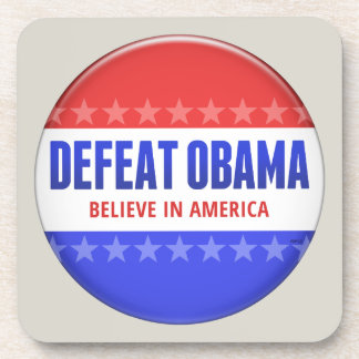 Defeat Obama Beverage Coaster