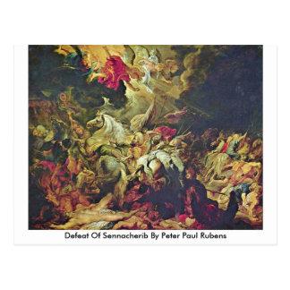 Defeat Of Sennacherib By Peter Paul Rubens Postcard