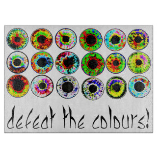 Defeat the colours. cutting board