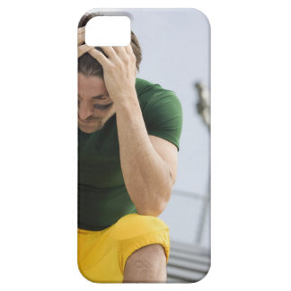 Defeated Football Player with Head in Hands iPhone 5 Cases