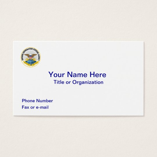 Defence Information Systems Agency Business Card
