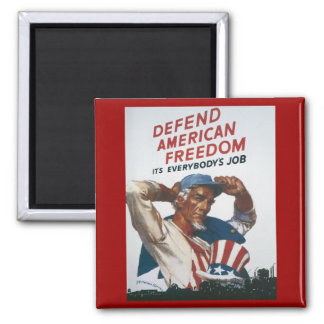 Defend American Freedom Magnet