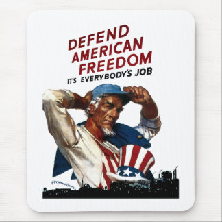 Defend American Freedom Mouse Mat