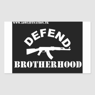 Defend Brotherhood Rectangular Sticker