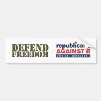 Defend Freedom, GOP vs 8 Bumper Sticker