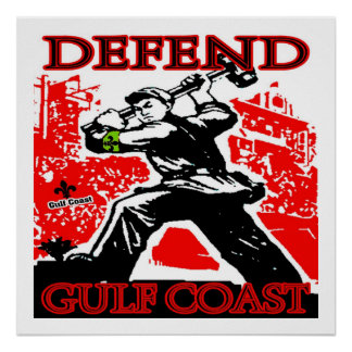 Defend Gulf Coast Oil Spill Print