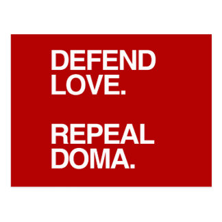 DEFEND LOVE REPEAL DOMA -.png Postcard