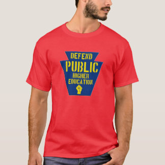 Defend Public Higher Education in PA Dark T T-Shirt