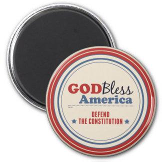 Defend The Constitution 6 Cm Round Magnet