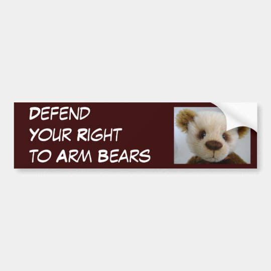 Defend Your Right to Arm Bears Bumper Sticker