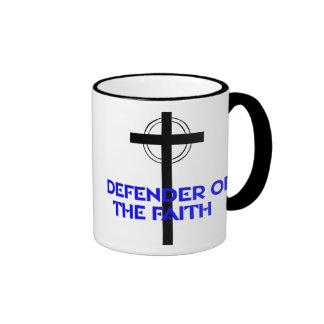 Defender of the Faith Ringer Coffee Mug