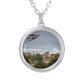 Defenders Of The Town Round Pendant Necklace
