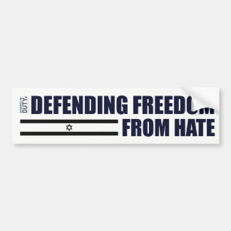 Defending Freedom From Hate Sticker