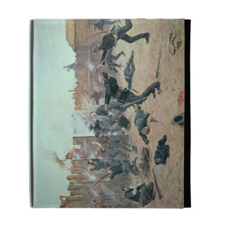 Defending the Fort: Indians attack a U.S. Cavalry iPad Folio Cover