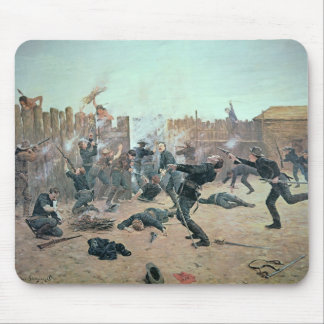 Defending the Fort: Indians attack a U.S. Cavalry Mouse Pad