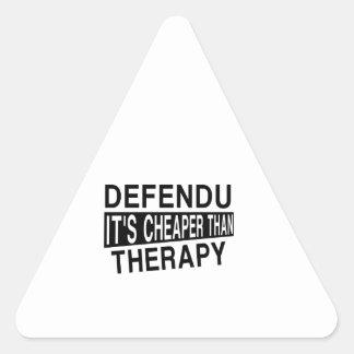 DEFENDU IT'S CHEAPER THAN THERAPY TRIANGLE STICKER