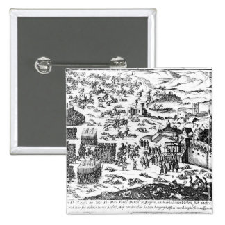 Defenestration of Prague, 1618 15 Cm Square Badge