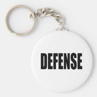 Defense Basic Round Button Key Ring