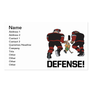 Defense Pack Of Standard Business Cards