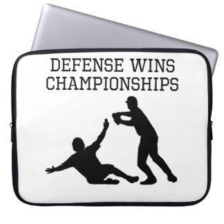Defense Wins Championships Laptop Sleeve