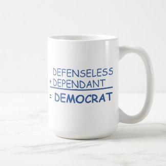 defenseless  + dependent basic white mug