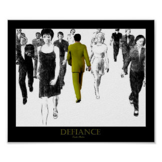 Defiance Yellow Poster