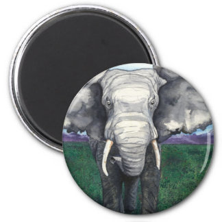 Defiant - African Elephant 6 Cm Round Magnet