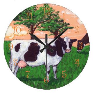 Defiant Cow Large Clock