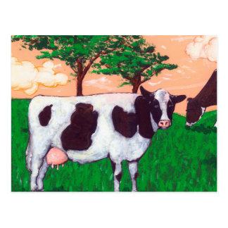Defiant Dairy Cow Postcard
