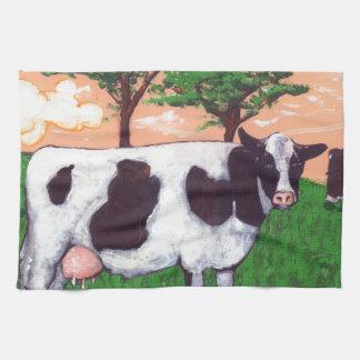 Defiant Dairy Cow Tea Towel