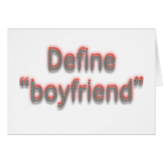 "Define ""boyfriend""  Double colors Card"