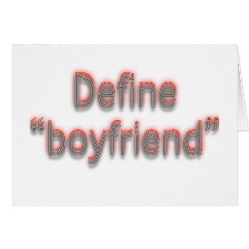 """Define """"boyfriend""""  Double colors Card"""