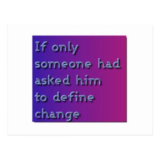 Define Change Postcard