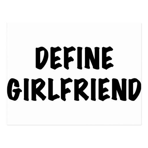Define Girlfriend Postcard
