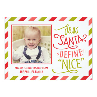 Define Nice Christmas Photo Card