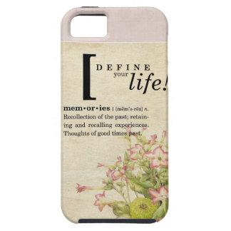 Define Your Life:  Memories iPhone 5 Case