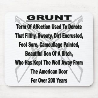 Defining The US Military GRUNT Mouse Pad
