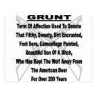 Defining The US Military GRUNT Postcard
