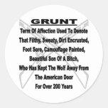 Defining The US Military GRUNT Round Sticker