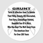 Defining The US Military GRUNT Stickers