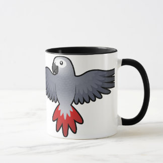 Definitely a Bird Person (african grey/parrot) Mug