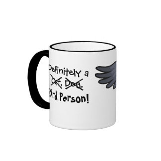 Definitely a Bird Person (african grey/parrot) Mugs