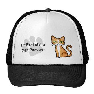 Definitely a Cat Person (design your own cat) Cap