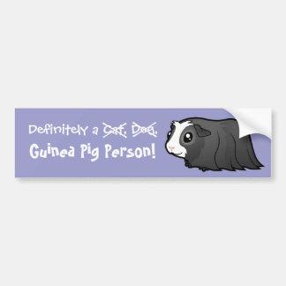 Definitely a Guinea Pig Person (long hair) Bumper Sticker