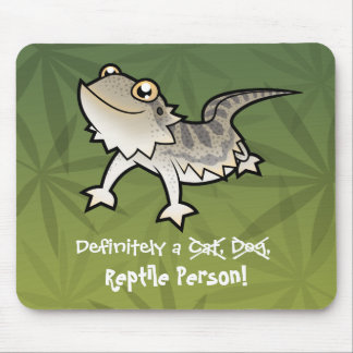 Definitely a Reptile Person (bearded dragon) Mouse Mat