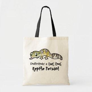 Definitely a Reptile Person (leopard gecko) Budget Tote Bag