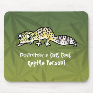 Definitely a Reptile Person (leopard gecko) Mouse Mat